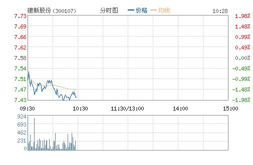 建新股份(300107)股票行情