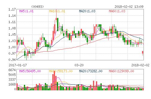国美股价走势